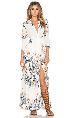Free People After The Storm Maxi Dress in Ivory Combo