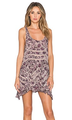 Free People Voile & Lace Trapeze Slip in Taupe Combo