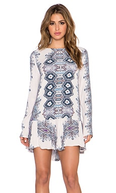 Free People Smooth Talker Dress in Antique Combo
