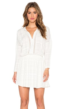 Free People Nomad Peasant Dress in Ivory