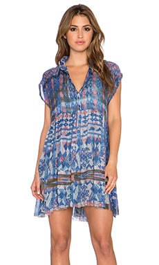Free People Empire Extreme Shirtdress in Marine Combo