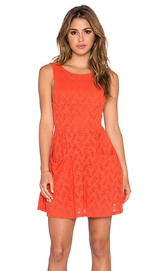 Free People Poppy Mini Dress in Persimmon