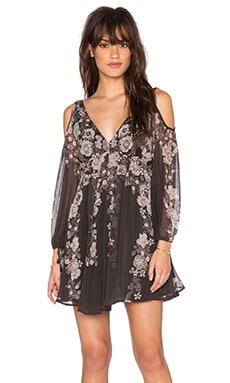 Free People Penny Lover Mini Dress in Raven Combo