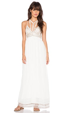 Free People Sacred Geometry Maxi Dress in Ivory Combo