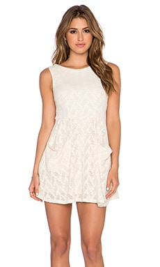 Free People Poppy Mini Dress in Tea
