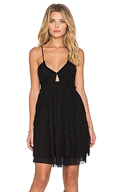 Free People Nicolette Lace Dress in Black