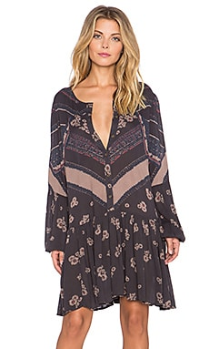Free People From Your Heart Printed Dress in Midnight Combo