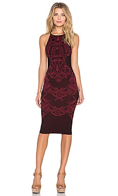 Free People Only One Bodycon Dress in Raspberry Combo