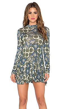 Free People Annabelle Printed Tunic in Cobalt Combo