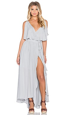 Free People Fiona's Sleeveless Maxi Dress in Rain Blue