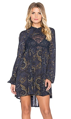 Free People Sweet Thing Tunic in Midnight Combo