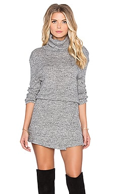 By The Fire Mini Dress in Grey
