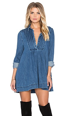 Free People Baby Blues Denim Tunic in Robins Blue