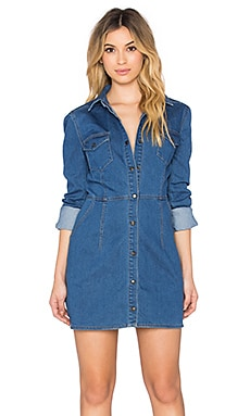 Free People Dynamite Mini Dress in 70's Blue