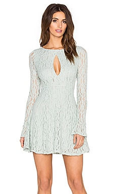 Free People Teen Witch Lace Dress in Foam Green