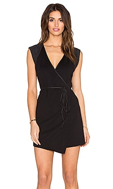 Free People Lindsay Wrap Dress in Black