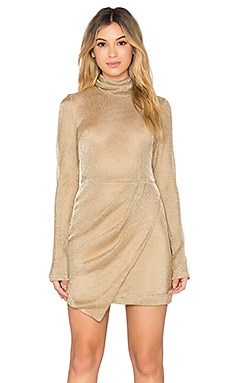 Free People Mercury Bodycon Dress in Gold