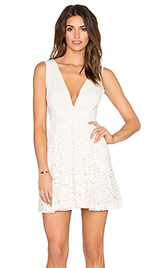 Free People Lovely in Love Lace Dress in Shell