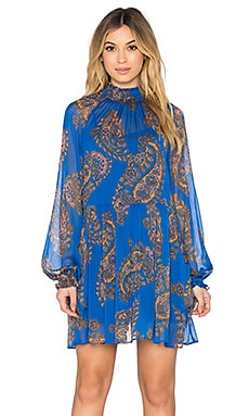 Free People Moonstruck Mini Dress in Cobalt Combo
