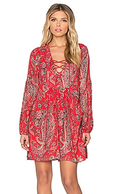 Free People Rain or Shine Printed Dress in Poppy Combo