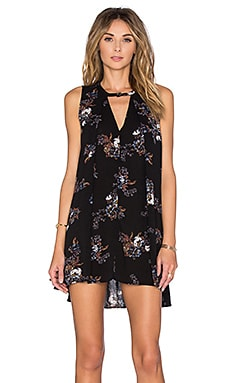 Free People Tree Swing Dress in Black Combo