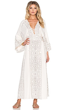 Free People Modern Kimono Dress in Pearl Combo