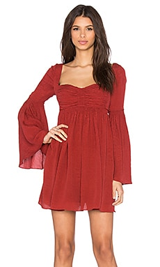Free People Duchess Party Dress in Deep Red
