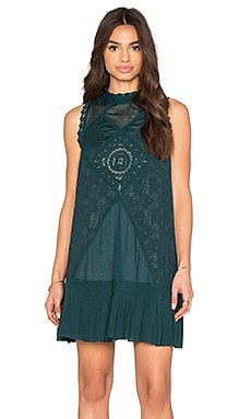Free People Angel Lace Dress in Jade
