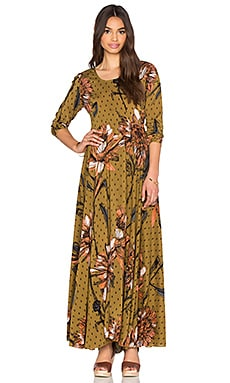 Free People First Kiss Dress in Goldenrod Combo