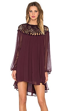 Free People Macrame Dress in Plum