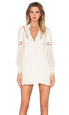 Free People In Dreamland Cutwork Dress in Ivory