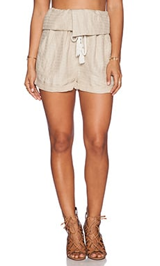 Free People Relaxed Foldover Short in Straw