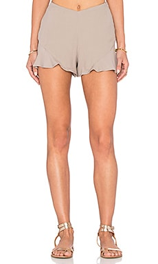Free People Fiona Solid Flutter Short in Hemp