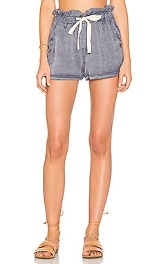 High Waisted Wash Short