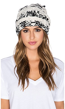 Free People Limitless Cuffed Beanie in Black Combo