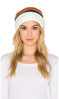 Free People Snow Bound Pom Pom Beanie in Ivory Combo