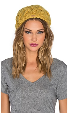Free People Snow Bird Beret in Mustard