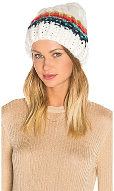 Over the Rainbow Beanie in Ivory Combo