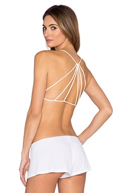 Strappy Back Bra en Blush Nude