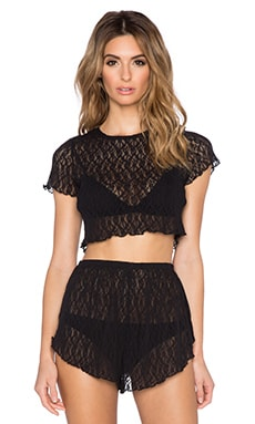 Free People High Tide Crop Top in Black