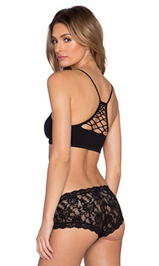 Free People Bella Coachella Seamless Baby Racerback Bra in Black