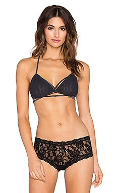 Free People Valentina Lace Bralette in Charcoal