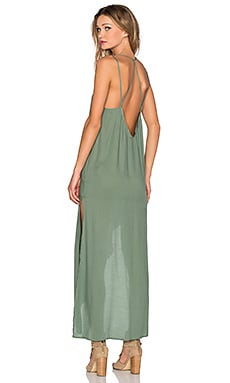 Free People Tie Up Knotted Slip in Leaf Green