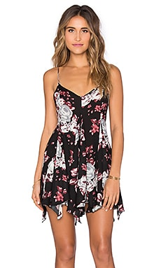 Free People Alyson Slip in Black Combo