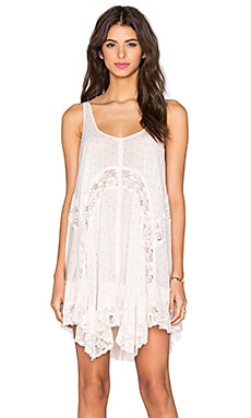 Free People She Swings Slip in Ivory Combo