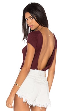 Carma Bodysuit in Wine