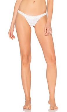 Free People Oh My Darling Thong in White