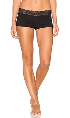 Free People Medallion Boyshort in Black