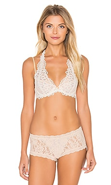 Free People Behind Your Eyes Underwire Bra in Ivory Combo