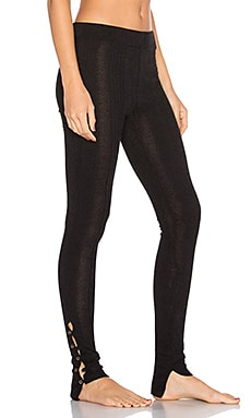Button Up Legging en Negro
